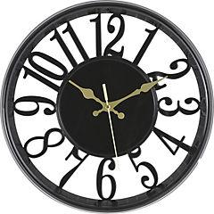 Reloj mural 30 cm Negro