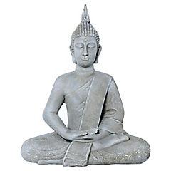 Buda decorativo 62,5x51x28 cm cerámica gris