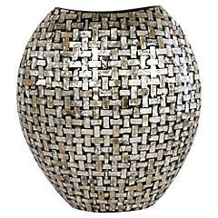 Jarro decorativo 35x14 cm Nacarado