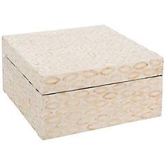 Caja decorativa 10x21 cm MDF Nacarado