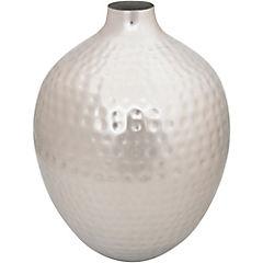 Vasija oval 23x23x29 cm plateada
