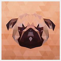 Sticker decorativo cachorro 15x15 cm 12 unidades