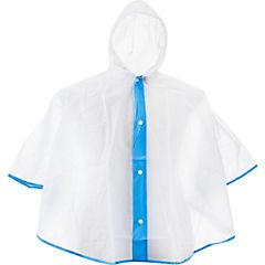 Poncho transparente azul 3 a 4 años