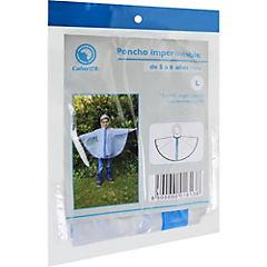 Poncho transparente azul 5 a 6 años