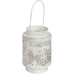 Portavela 14 cm metal Blanco