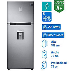 Refrigerador no frost top mount freezer 452 litros silver