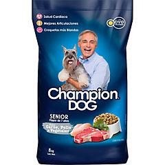 Alimento seco para perro senior 8 kg carne, pollo y vegetales