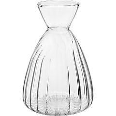 Botella decorativa 10,6x7,2 cm vidrio transparente