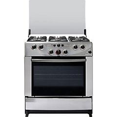 Cocina a gas 6 quemadores 102 litros gris