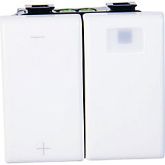 Dimmer multicarga modular 10 A Blanco