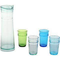 Jarra acrílico 1,5 litros con 4 vasos azul