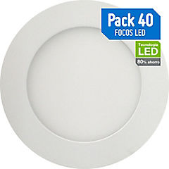 Set de focos empotrables LED 6 W 40 unidades