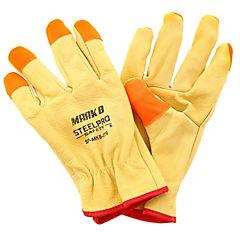 Guante de cuero con protección de dedos