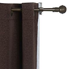Kit de cortinas + velo Camila 144x220 cm café