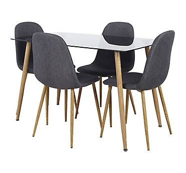 Juego de comedor 4 sillas gris - Sodimac.com