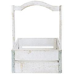 Caja decorativa 33x24x24 cm madera blanco