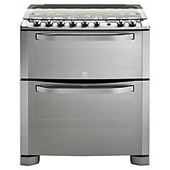Cocina a gas 5 quemadores 93 litros silver