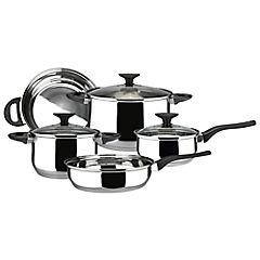 Batería de cocina 8 piezas acero inoxidable Gris