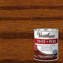 Tinte poliuretano a base de agua semibrillante 0,9 l Nogal