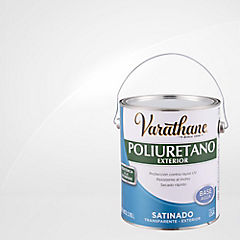 Barniz poliuretano a base de agua exterior satinado 3,8 l