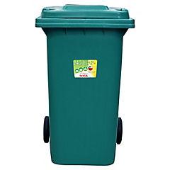 Basurero con tapa 240 litros Verde