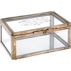 Caja decorativa 9x12,5x16,5 cm vidrio transparente