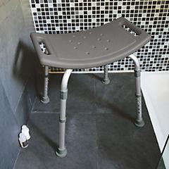 Asiento de seguridad para ducha 56x48x48 cm Gris