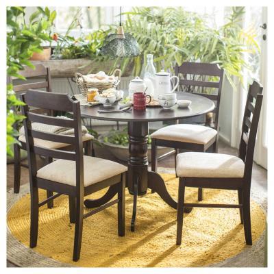 Juego de comedor 4 sillas chocolate homy 3118525 for Sillas de oficina sodimac