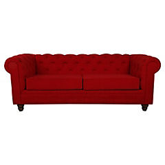 Sofá 3 cuerpos 200x95x80 cm rojo
