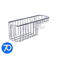 Canasto para ducha 9,65x11,9x28 cm acrílico Cromado