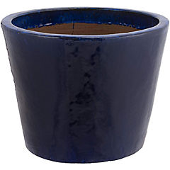 Macetero de cerámica 50x40 cm Azul
