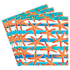 Set de 4 posavasos Starfish Tropics Artista de Canadá