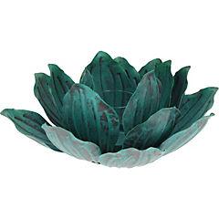 Portavela Lotus turquesa 27x11 cm