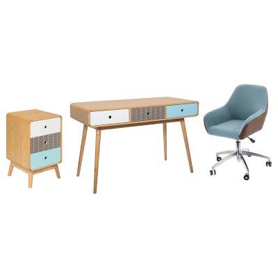 Combo escritorio silla pc gabinete for Sillas de escritorio sodimac