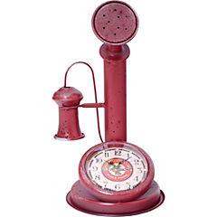 Reloj de mesa 33 cm rojo