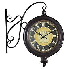 Reloj colgante 47 cm café