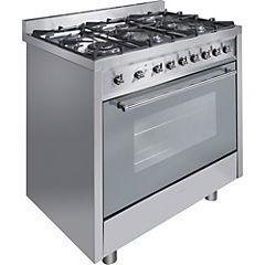 Cocina a gas 6 quemadores 112 litros inox