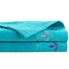 Juego de toallas 380 gr 30x50 cm 2 unidades turquesa