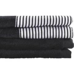 JUST HOME COLLECTION - Juego de toallas 380 gr 30x50 cm 2 unidades negro