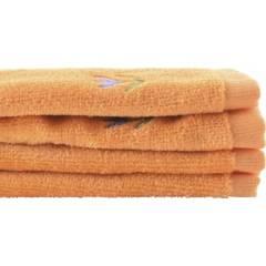 JUST HOME COLLECTION - Juego de toallas 380 gr 30x50 cm 2 unidades naranjo