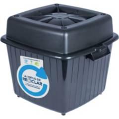 COMBERPLAST - Contenedor para alimento 60 litros gris