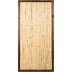 Panel varas con marco 90X182 cm de bamboo Beige