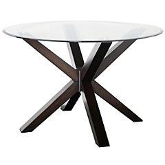 Mesa de comedor 75x120 cm chocolate
