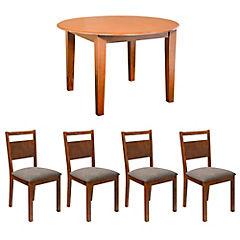 Juedo de comedor mesa Catar 4 sillas Brune