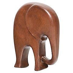 Elefante decorativo 28x20x6 cm cerámica café