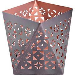 Portavela tealight 11x11x10 cm cobre