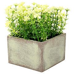 Arreglo floral artificial 14x10x10 cm con macetero