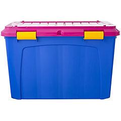 Baúl organizador 123 litros 52,7x43x80,8 cm lila/rosa