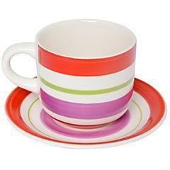Juego de té 12 piezas rojo