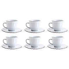 Juego de té 12 piezas blanco